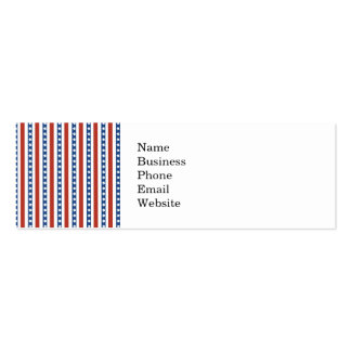 Bold and Fun 4th of July Stars and Stripes Pattern Double-Sided Mini Business Cards (Pack Of 20)