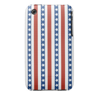 Bold and Fun 4th of July Stars and Stripes Pattern iPhone 3 Covers