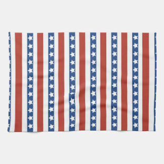 Bold and Fun 4th of July Stars and Stripes Pattern Hand Towel