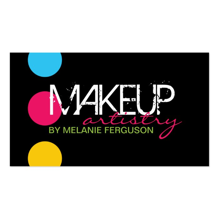Bold and hip makeup artist business card zazzle for Hip business cards