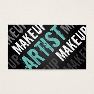 Bold and Modern Makeup Artist Business Cards