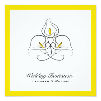Bold and Simple Calla Lilies Wedding Invitations