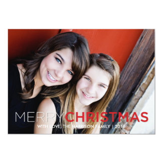 Bold and Simple Christmas Card Holiday Card