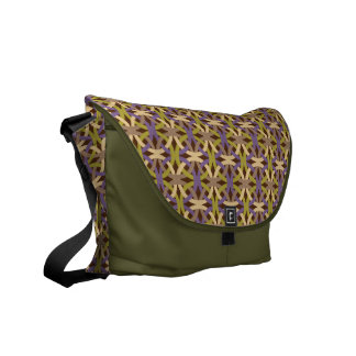 Bold and Vibrant Circle Pattern Messenger Bag