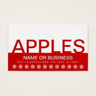 bold APPLES customer loyalty card