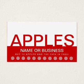 bold APPLES customer loyalty card - apple fruit