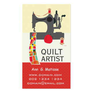 Bold Arts and Crafts Quilt Artist Business Card Templates