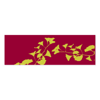 Bold Asian Colors of Nature Ginkgo Branches Business Card Template