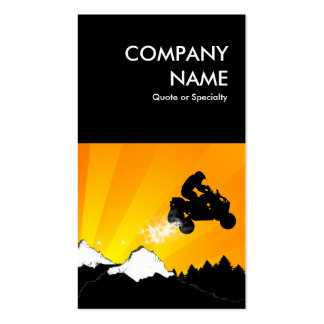 bold atv dirt trail business card template