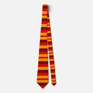 bold autumn stripes neck tie