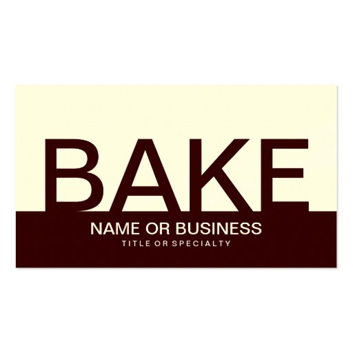 bold BAKE (color customizable) Business Card Template