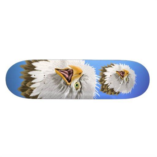 Bold Bald Eagle Skateboard
