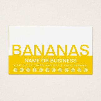 bold BANANAS customer loyalty punch card