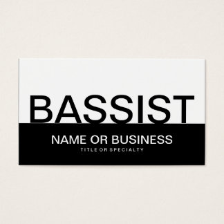 bold BASSIST Business Card