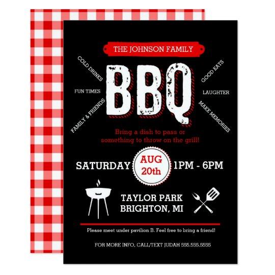bold bbq picnic invitation barbecue invite zazzle com