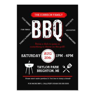 Bold BBQ Picnic Invitation, Barbecue Invite