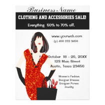 Bold Beautiful Fashion Red Animal Leopard Print Flyer