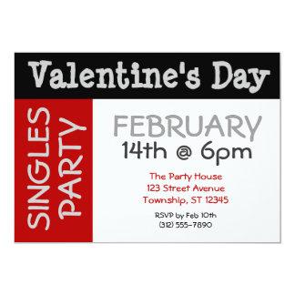 Bold & BIG Valentine's Day Singles Party Invites