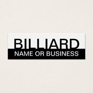 bold BILLIARDS (color customizable) Mini Business Card
