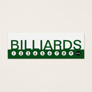 bold BILLIARDS customer loyalty Mini Business Card