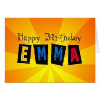 Bold birthday card for Emma