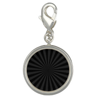 Bold Black and Charcoal Burst Customize This Charm