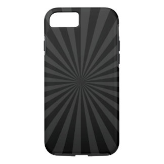 Bold Black and Charcoal Burst Customize This iPhone 8/7 Case