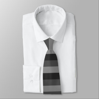 bold black and gray stripes tie