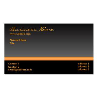 Bold Black and Orange business card
