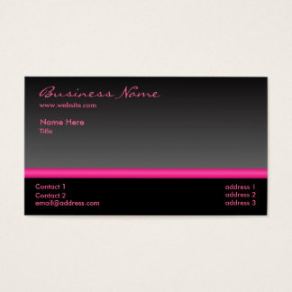 Bold Black and Pink business card