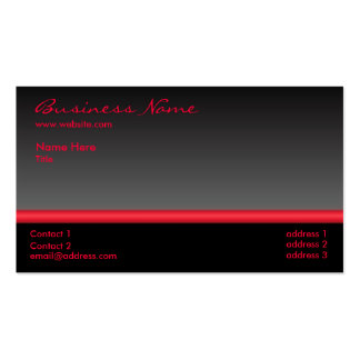 Bold Black and Red business card