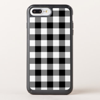 Bold Black and White Buffalo Plaid Speck iPhone Case