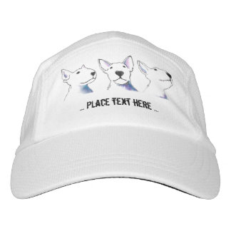Bold Black and White Bullterrier faces Headsweats Hat