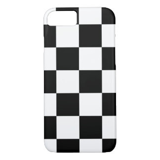 Bold Black and White Checkered Pattern iPhone 7 Case