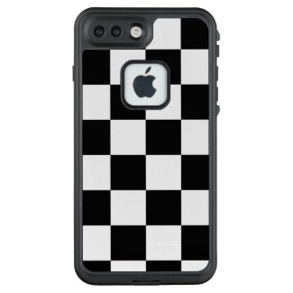 Bold Black and White Checkered Pattern LifeProof® FRĒ® iPhone 7 Plus Case