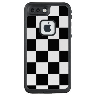 Bold Black and White Checkered Pattern LifeProof FRĒ iPhone 7 Plus Case