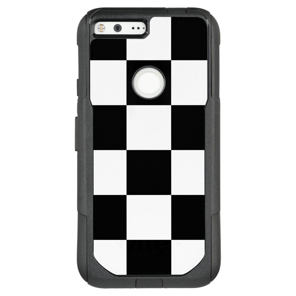 Bold Black and White Checkered Pattern OtterBox Commuter Google Pixel XL Case