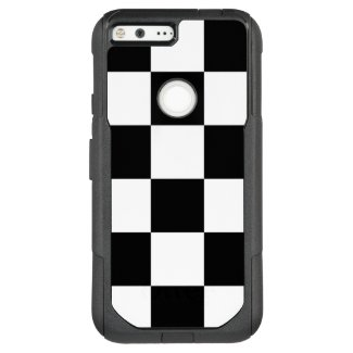 Bold Black and White Checkered Pattern OtterBox Commuter Google Pixel XL Case