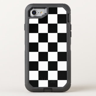 Bold Black and White Checkered Pattern OtterBox Defender iPhone 7 Case
