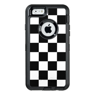 Bold Black and White Checkered Pattern OtterBox Defender iPhone Case