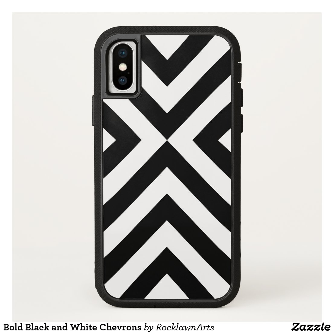 Bold Black and White Chevrons iPhone Case