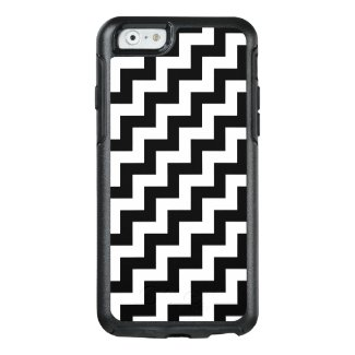 Bold Black and White Diagonal Zigzag Pattern OtterBox iPhone 6/6s Case