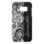 Bold Black and White Floral Design Case Mate