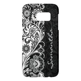 Bold Black and White Floral Design Case Mate