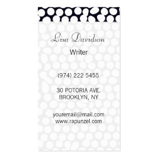 Bold Black and White Geometric Business Cards