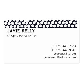Bold Black and White Geometric Business Card Template