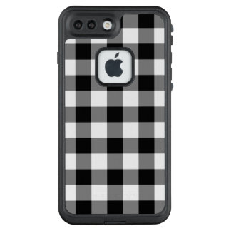 Bold Black and White Gingham Plaid LifeProof® FRĒ® iPhone 7 Plus Case