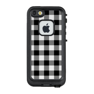 Bold Black and White Gingham Plaid LifeProof FRĒ iPhone SE/5/5s Case