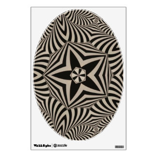 Bold Black and White Graphic - Art for Your Toilet Wall Decal