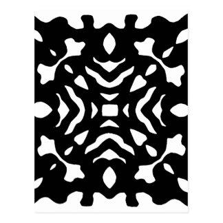 Bold Black and White Pattern Modern Postcard